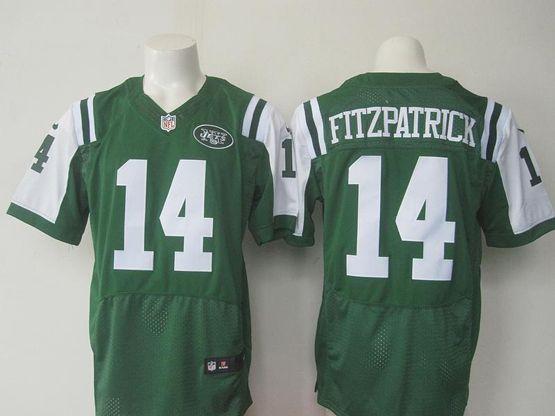Mens Nfl New York Jets #14 Ryan Fitzpatrick Green Elite Jersey