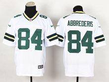 Mens Nfl Green Bay Packers #84 Jared Abbrederis White Elite Jersey
