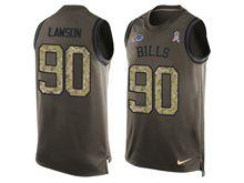 mens nfl buffalo bills #90 shaq lawson Green salute to service limited tank top jersey