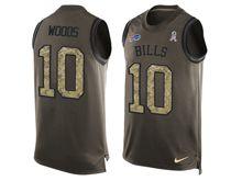 mens nfl buffalo bills #10 robert woods Green salute to service limited tank top jersey