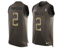 mens nfl buffalo bills #2 dan carpenter Green salute to service limited tank top jersey