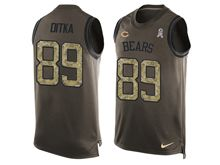 mens nfl chicago bears #89 mike ditka Green salute to service limited tank top jersey