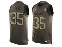 mens nfl san francisco 49ers #35 eric reid Green salute to service limited tank top jersey