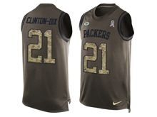 mens nfl green bay packers #21 haha clinton-dix Green salute to service limited tank top jersey