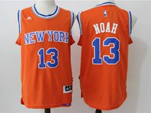 Mens Nba New York Knicks #13 Joakim Noah Orange Jersey