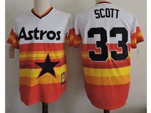 Mens Mlb Houston Astros #33 Mike Scott Iridescent Throwbacks Pullover Jersey