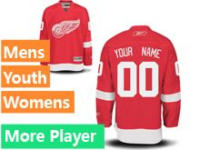 Mens Reebok Detroit Red Wings Red Jersey