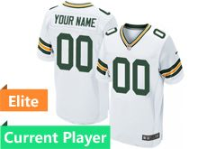 Mens Green Bay Packers White Elite Jersey