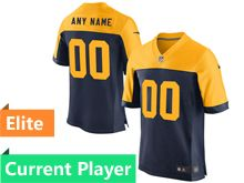 Mens Green Bay Packers Blue Yellow Alternate Elite Jersey