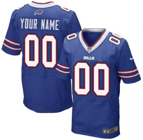 Mens Nike Buffalo Bills Blue Elite Jersey
