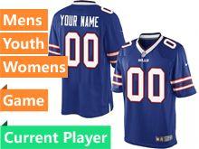 Mens Women Youth   Buffalo Bills Blue Game Jersey