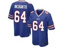 Mens Nfl Buffalo Bills #64 Richie Incognito Blue Game Jersey