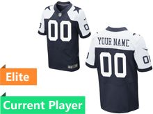 Mens Dallas Cowboys Blue Elite Thanksgiving Jersey