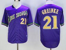 Mens Mlb Arizona Diamondbacks #21 Zack Greinke Purple Throwbacks Jersey