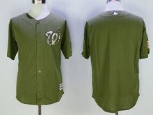 Mens Mlb Washington Nationals Blank Green Fashion 2016 Memorial Day Jersey