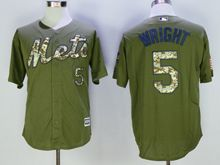 Mens Mlb New York Mets #5 David Wright Green Fashion 2016 Memorial Day Jersey