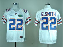 Mens Ncaa Nfl Florida Gators #22 E.smith White Jersey