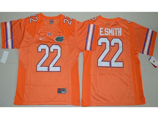 Mens Ncaa Nfl Florida Gators #22 E.smith Orange Jersey