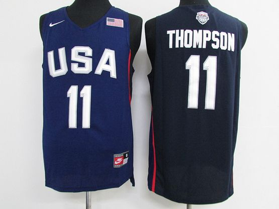 Mens Nba 12 Dream Teams #11 Klay Thompson Blue Jersey