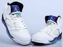 Womens Mens Jordan 5 Air White Grape Running Shoes Color White And Purple Jade And Blue