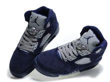 Jordan 5 Air Running Shoes Color Dark Blue And Gray