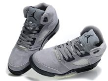 Womens Mens Jordan 5 Air Running Shoes Color Gray And Black