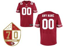 Mens Nike San Francisco 49ers Red 70th Anniversary Elite Jersey