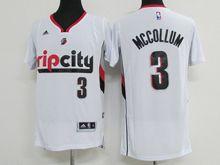 Mens Nba Portland Trail Blazers #3 C.j. Mccollum White Jersey(p)