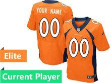 Mens Denver Broncos Orange Elite Jersey