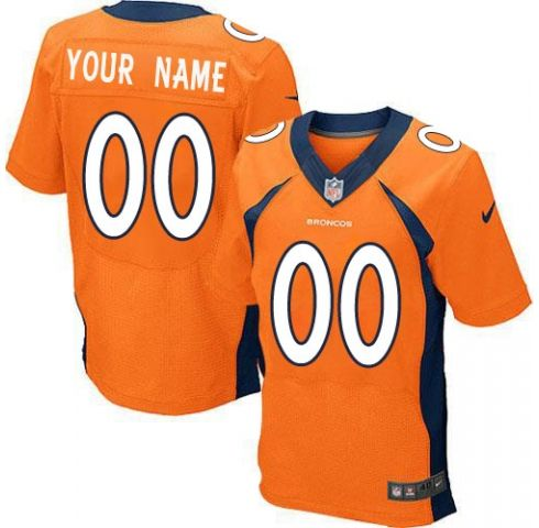 Mens Nike Denver Broncos Orange Elite Jersey