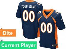 Mens Denver Broncos Blue Elite Jersey