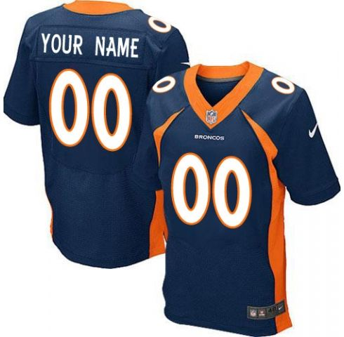 Mens Denver Broncos Blue Elite Jersey