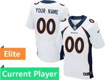Mens Denver Broncos White Elite Jersey