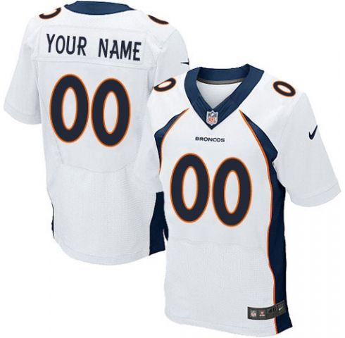 Mens Denver Broncos White Elite Jersey