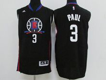 Mens Nba Los Angeles Clippers #3 Chris Paul Black 2016 New Jersey