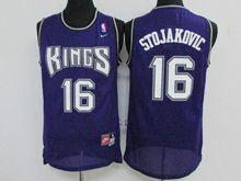 Mens Nba Sacramento Kings #16 Peja Stojaković Purple Throwback Jersey