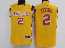 Mens Adidas Cleveland Cavaliers #2 Kyrie Irving Yellow New Jersey