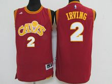 Mens Adidas Cleveland Cavaliers #2 Kyrie Irving Purplish Red Throwbacks Jersey