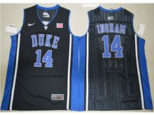 Mens Ncaa Nba Duke Blue Devils #14 Brandon Ingram Black Elite (v Neck) Jersey