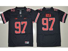 Youth Ncaa Nfl Ohio State Buckeyes #97 Joey Bosa Black (red Number Collar Team Name) Blackout Jersey