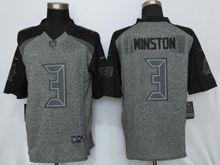 Mens   Tampa Bay Buccaneers #3 Jameis Winston Black Gray Gridiron Limited Jersey