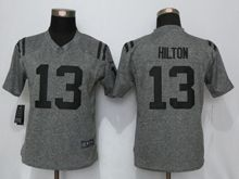 Women   Indianapolis Colts #13 T.y. Hilton Gray Gridiron Limited Jersey