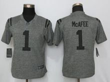 Women   Indianapolis Colts #1 Pat Mcafee Gray Gridiron Limited Jersey