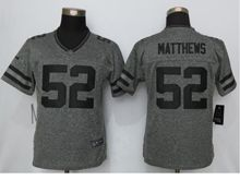 Women   Green Bay Packers #52 Clay Matthews Gray Gridiron Limited Jersey