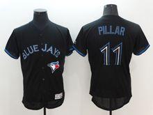 mens majestic toronto blue jays #11 kevin pillar black Flex Base jersey