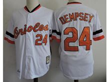 Mens Mlb Baltimore Orioles #24 Rick Dempsey White Throwback Jersey
