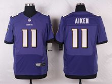 Mens Nfl Baltimore Ravens #11 Kamar Aiken Purple Elite Jersey