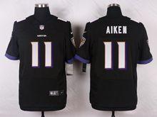 Mens Nfl Baltimore Ravens #11 Kamar Aiken Black Elite Jersey