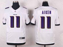 Mens Nfl Baltimore Ravens #11 Kamar Aiken White Elite Jersey