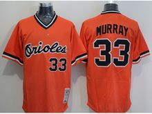 mens majestic baltimore orioles #33 eddie murray orange Flex Base jersey